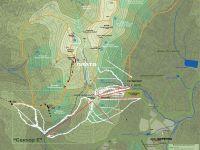 Туристская картосхема горного массива Зеленая-Мустаг. Автор Instructor Shultz.