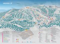 Схема горнолыжного комплекса на горе Зеленой компании